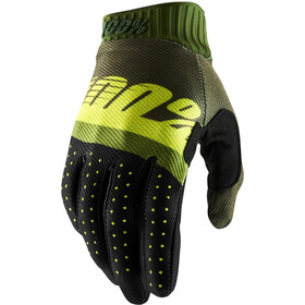 100% Ridefit FA18 Gants, army green/fluo lime/fatigue